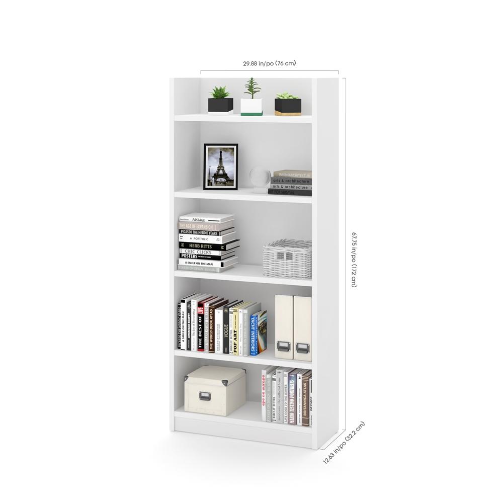 Pro-Linea Bookcase in White. Picture 3