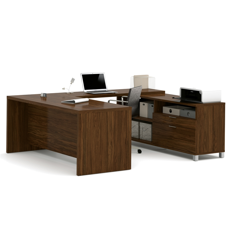 Pro Linea U Desk In Oak Barrel