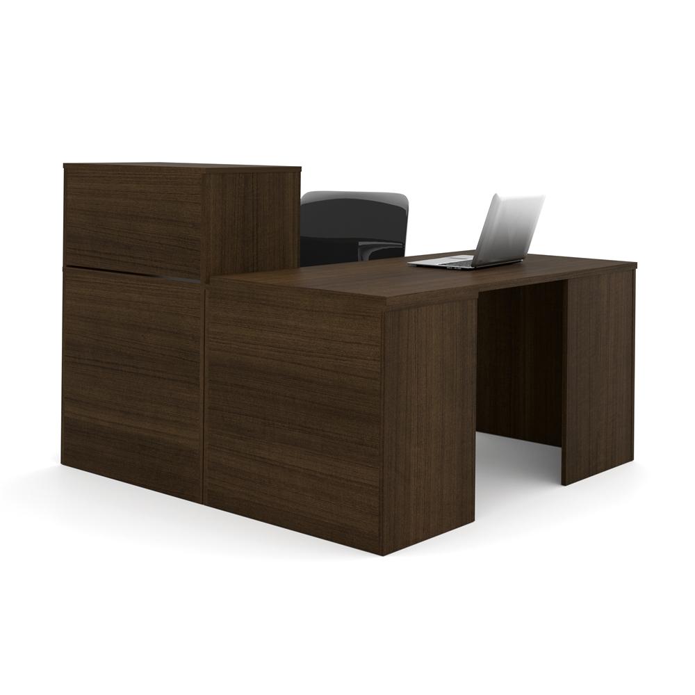 I3 L Shaped Desk In Tuxedo