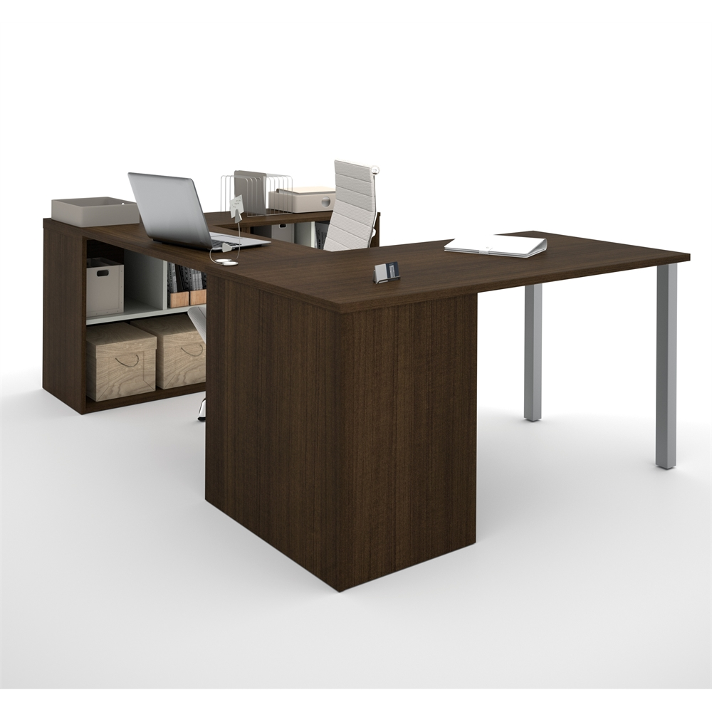 I3 U Shaped Desk In Tuxedo And Sandstone