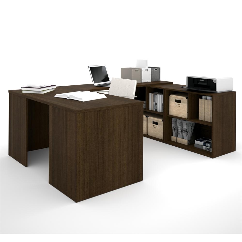 I3 U Shaped Desk In Tuxedo