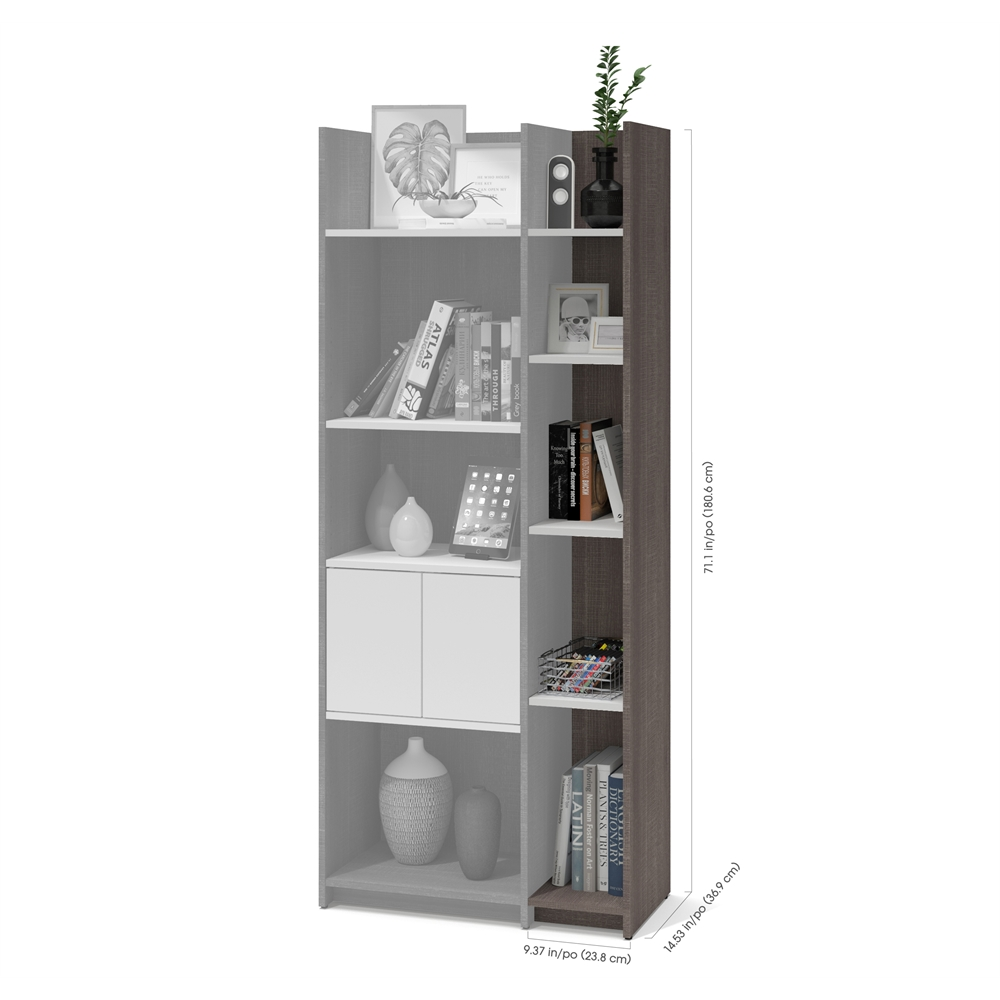 Bestar Small E Storage Wall Unit In