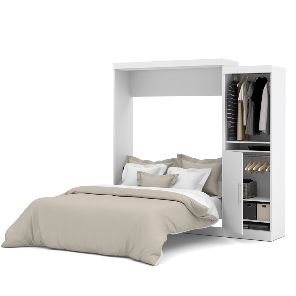 Wall Bed Queen White
