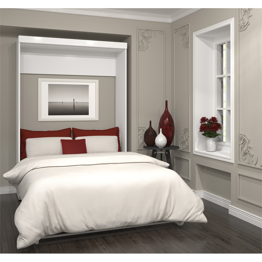 Pur Full Wall Bed In White