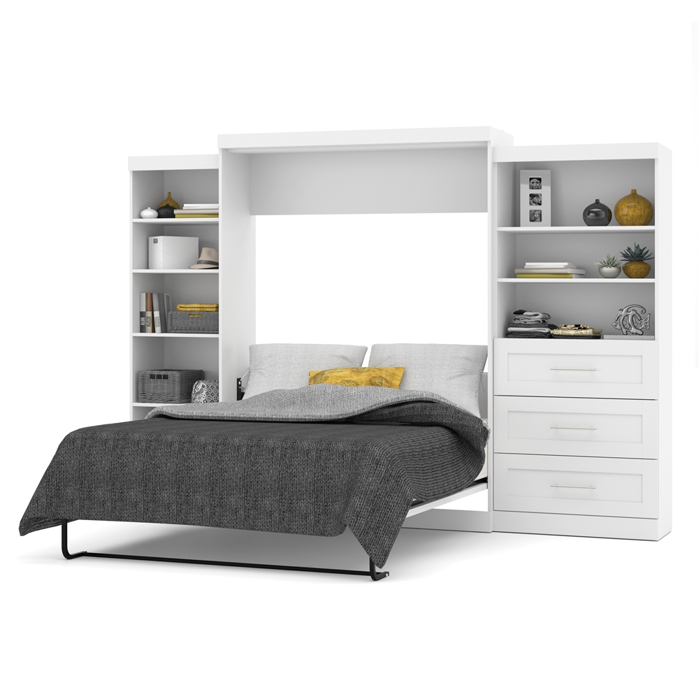 storage kitchen cabinets pur 126 quot wall bed kit in white 26882