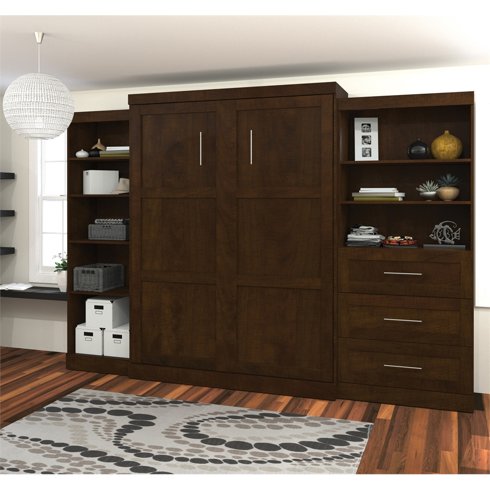 storage kitchen cabinets pur 126 quot wall bed kit in chocolate 26882