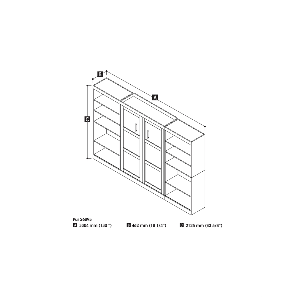 pur 131 u0026quot  full wall bed kit in white