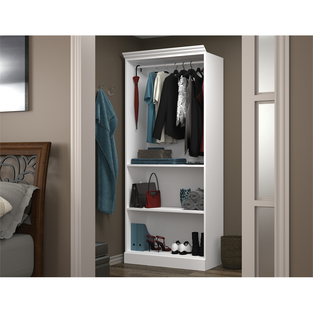 Versatile 36 Quot Closet Storage Shell In White