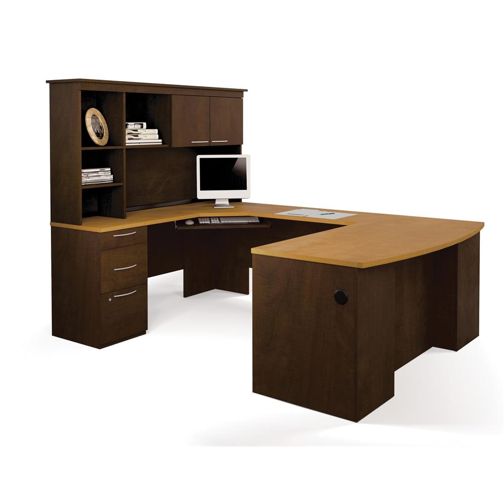 Hatley U Shaped Workstation In Maple Amp Chocolate