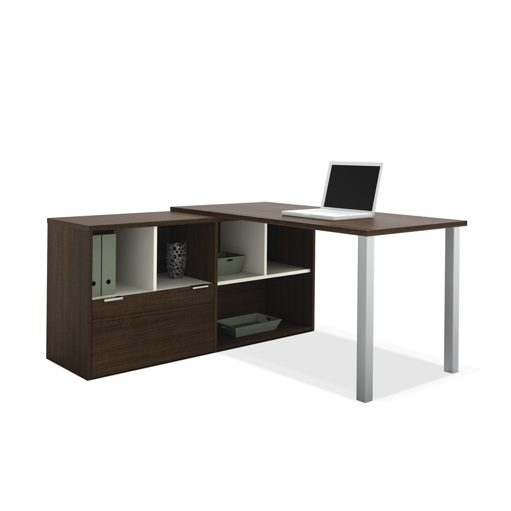 Contempo L Shaped Desk In Tuxedo