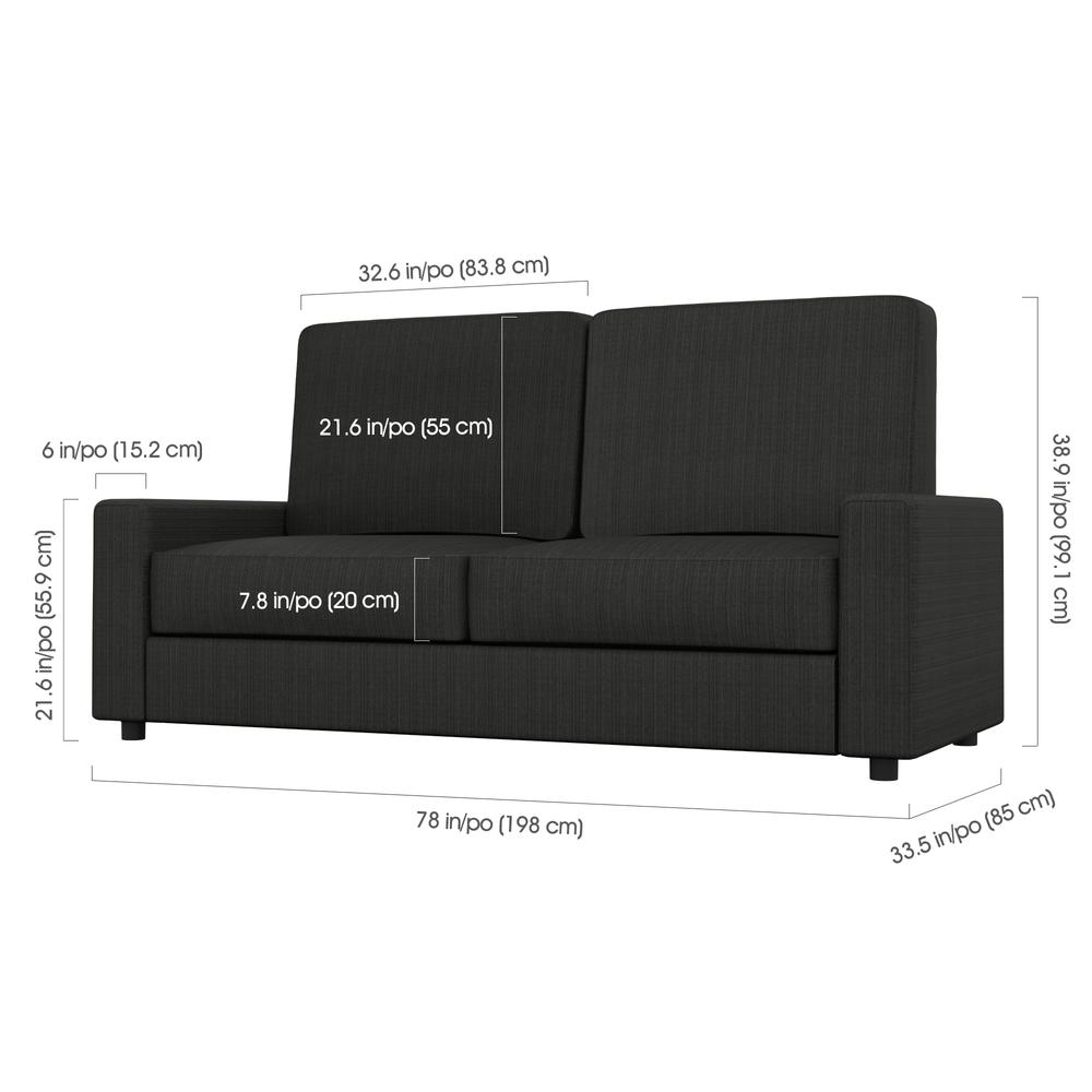 Sofa for Queen Wall Bed - Grey. Picture 2