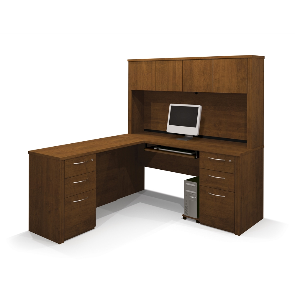 Embassy L Shaped Workstation Kit Including Assembled