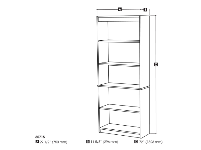 Standard Bookcase in Bordeaux