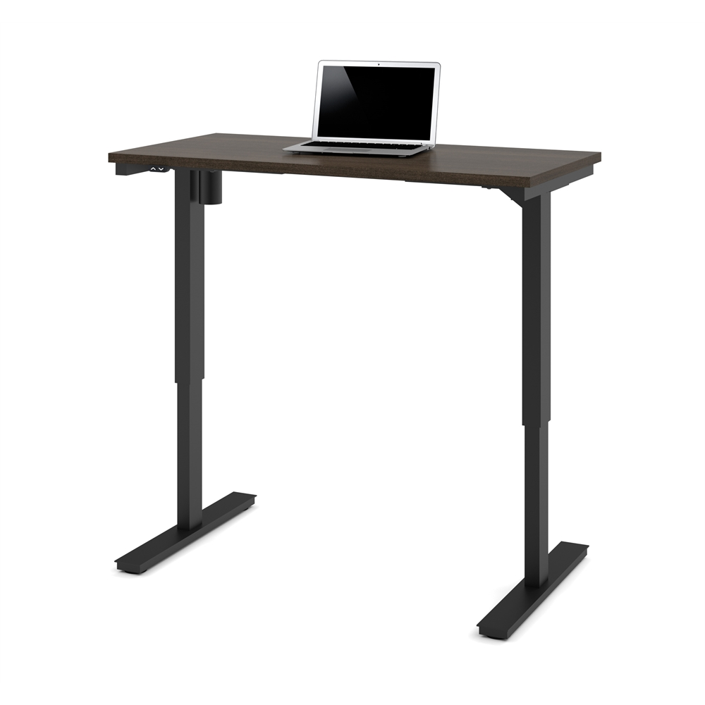 24 Quot X 48 Quot Electric Height Adjustable Table In Dark Chocolate