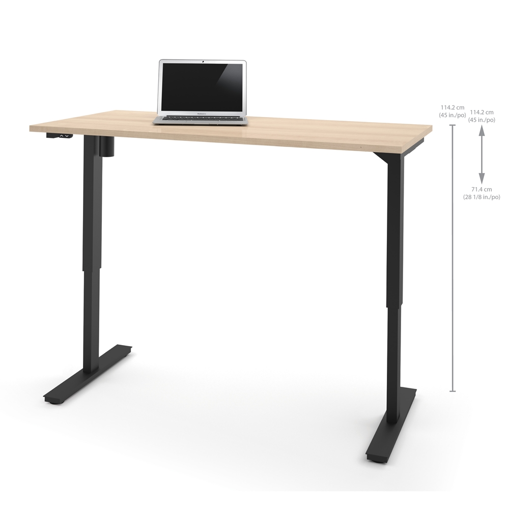 30 Quot X 60 Quot Electric Height Adjustable Table In Northern Maple