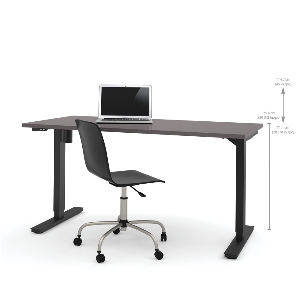30 Quot X 60 Quot Electric Height Adjustable Table In Slate