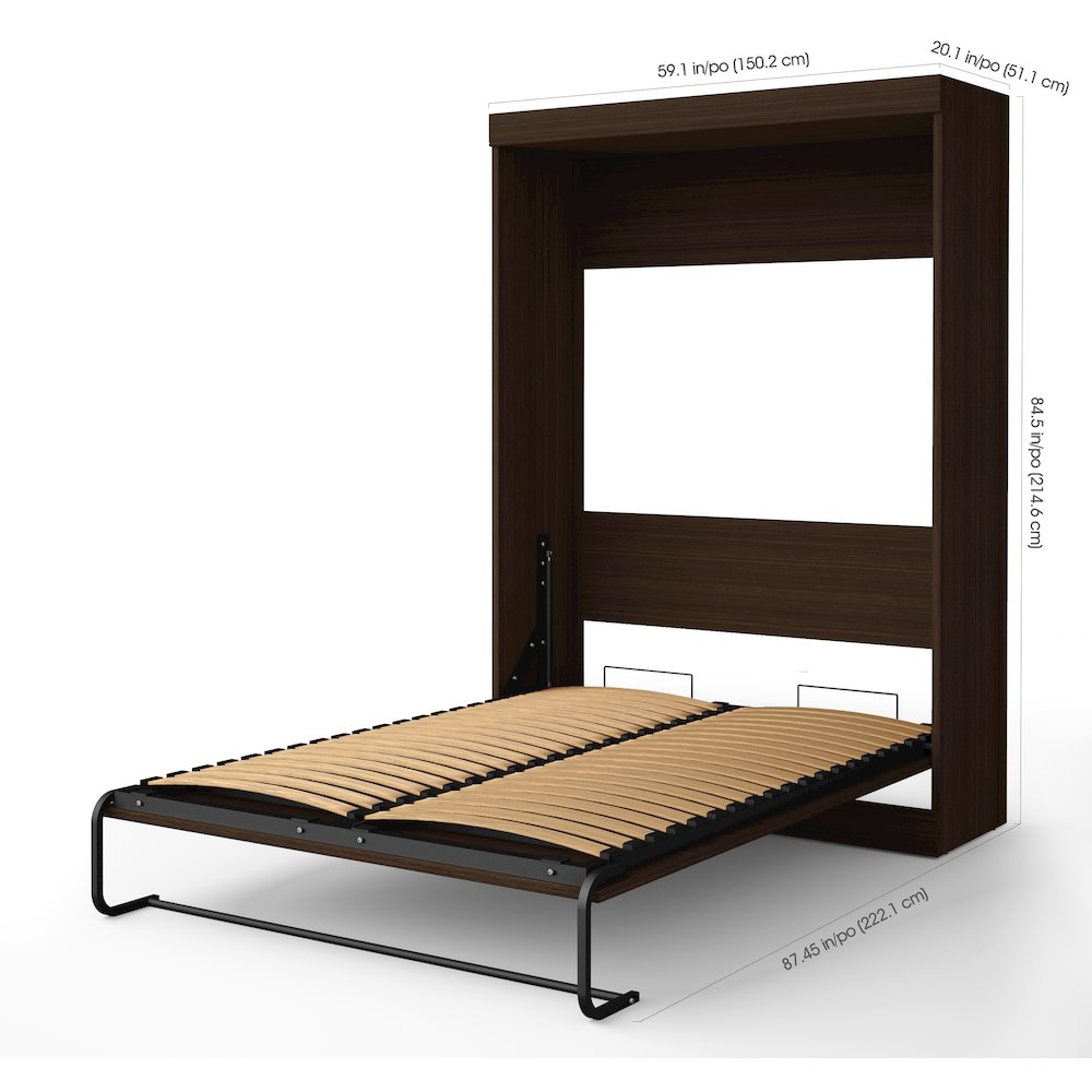 Edge Full Wall Bed In Dark Chocolate