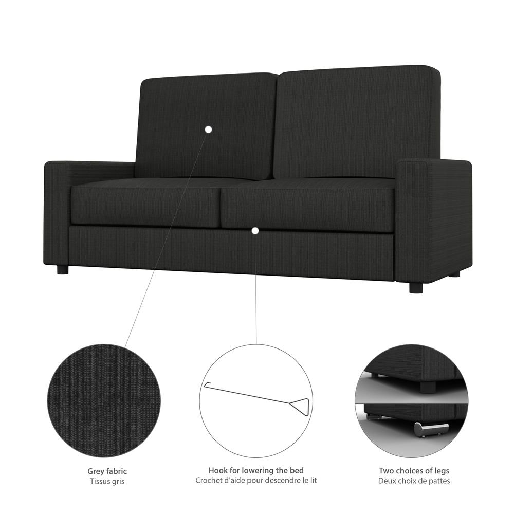 Sofa for Queen Wall Bed - Grey. Picture 3