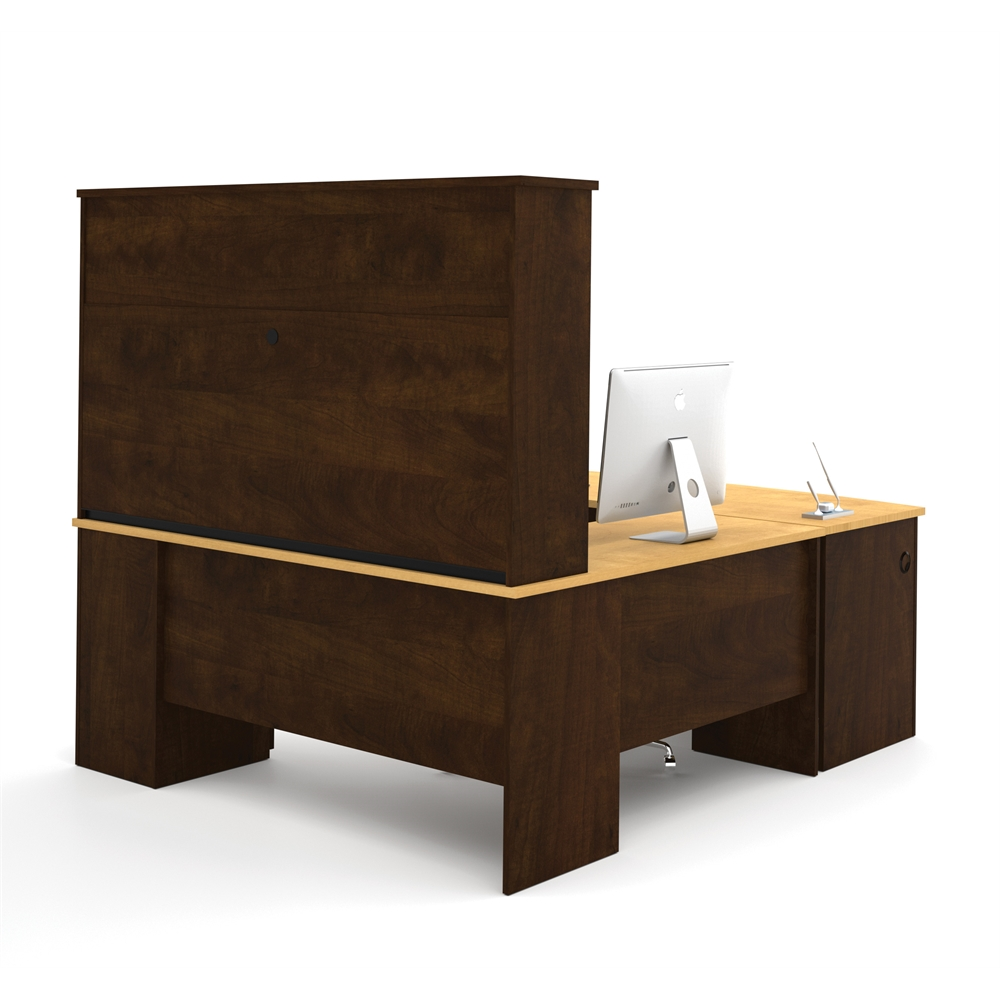 Manhattan U Shaped Workstation In Secret Maple Amp Chocolate