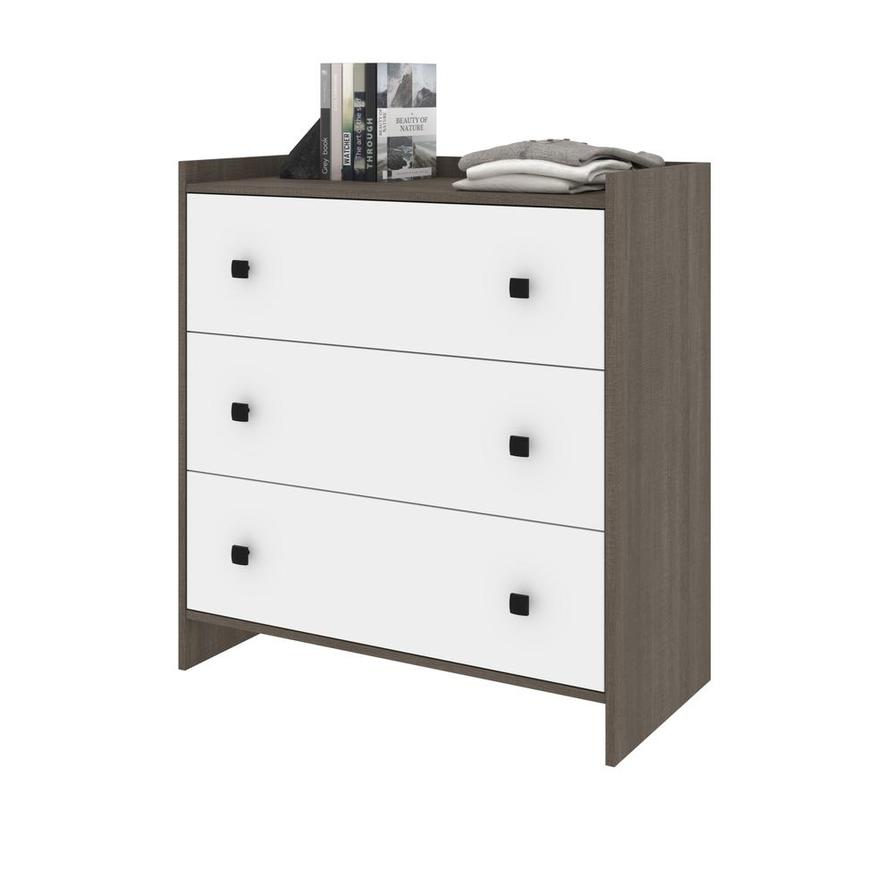 Bestar Sirah Dresser - Bark Grey & White