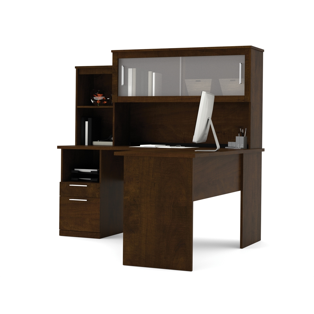 Dayton L Shaped Desk In Chocolate