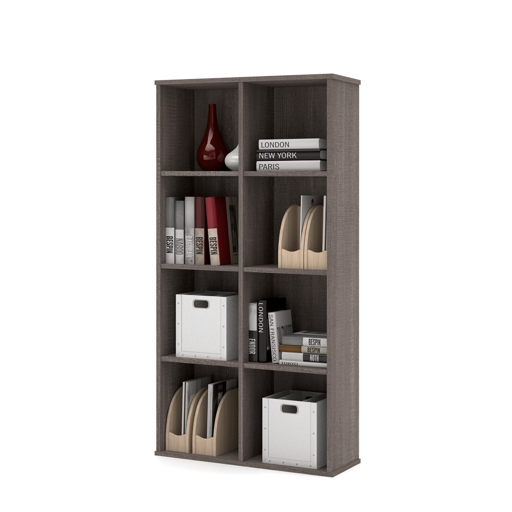 Dayton by  Cubby Bookcase in Bark Gray