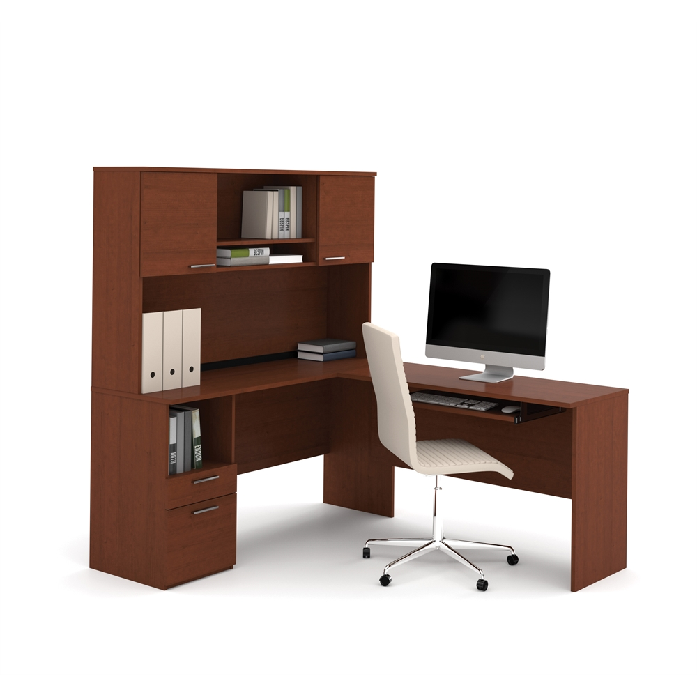 Cappuccino L Shaped Desk Monarch Specialties L Shaped