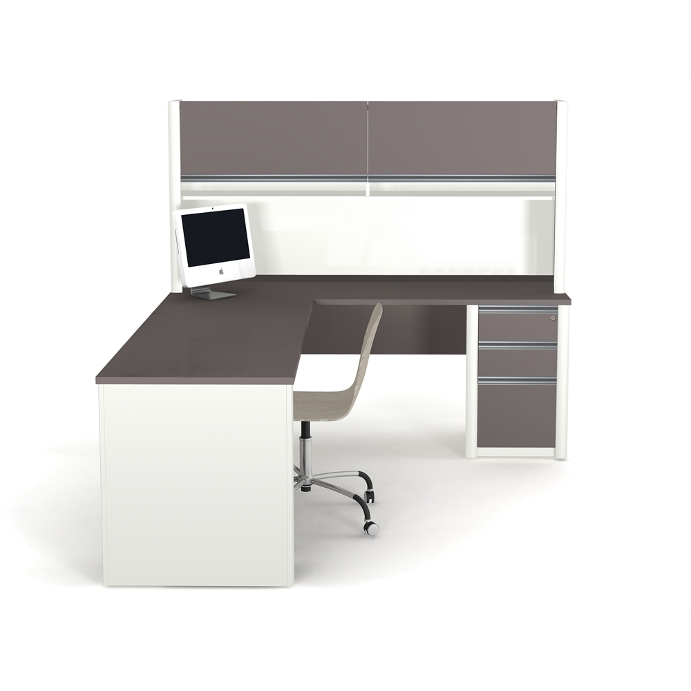 Connexion L Shaped Workstation Including Assembled