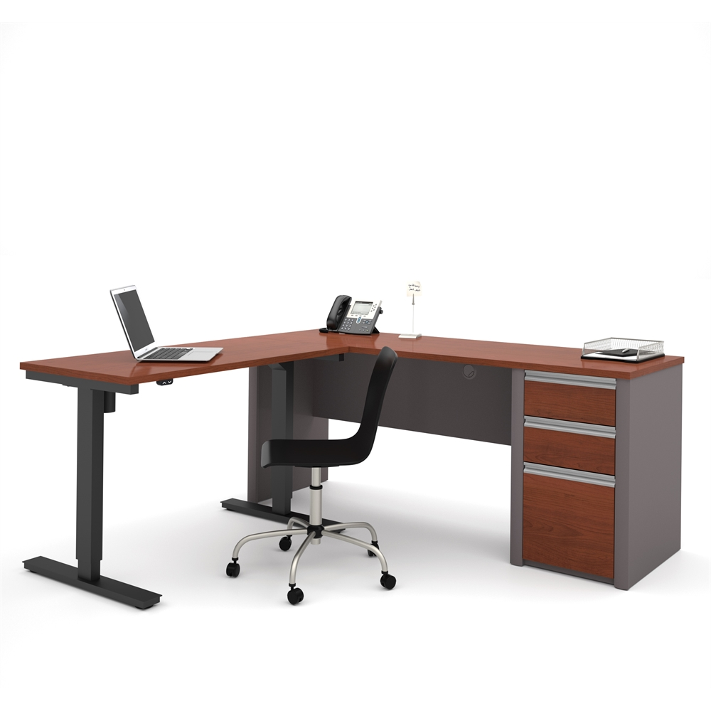 connexion l desk including electric height adjustable. Black Bedroom Furniture Sets. Home Design Ideas
