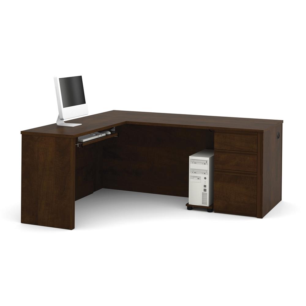 Prestige L Shaped Workstation Including One Pedestal In