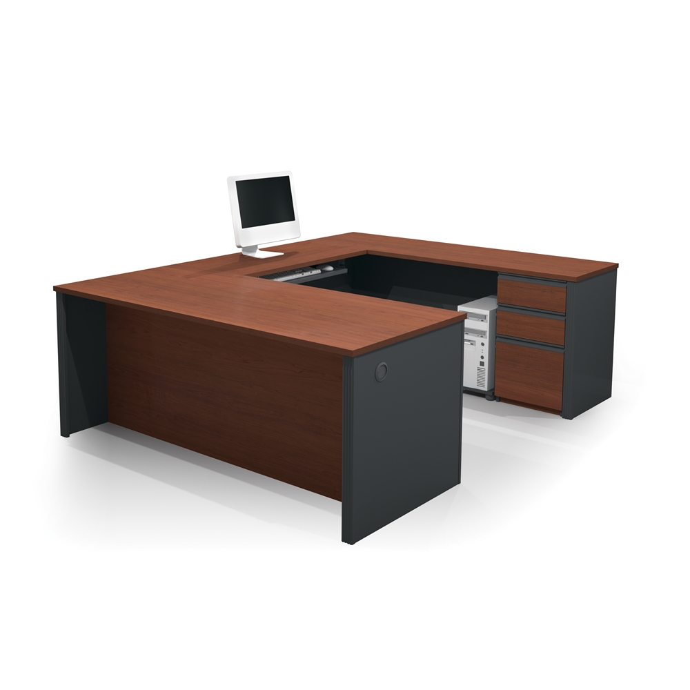 Prestige U Shaped Workstation Including One Pedestal In