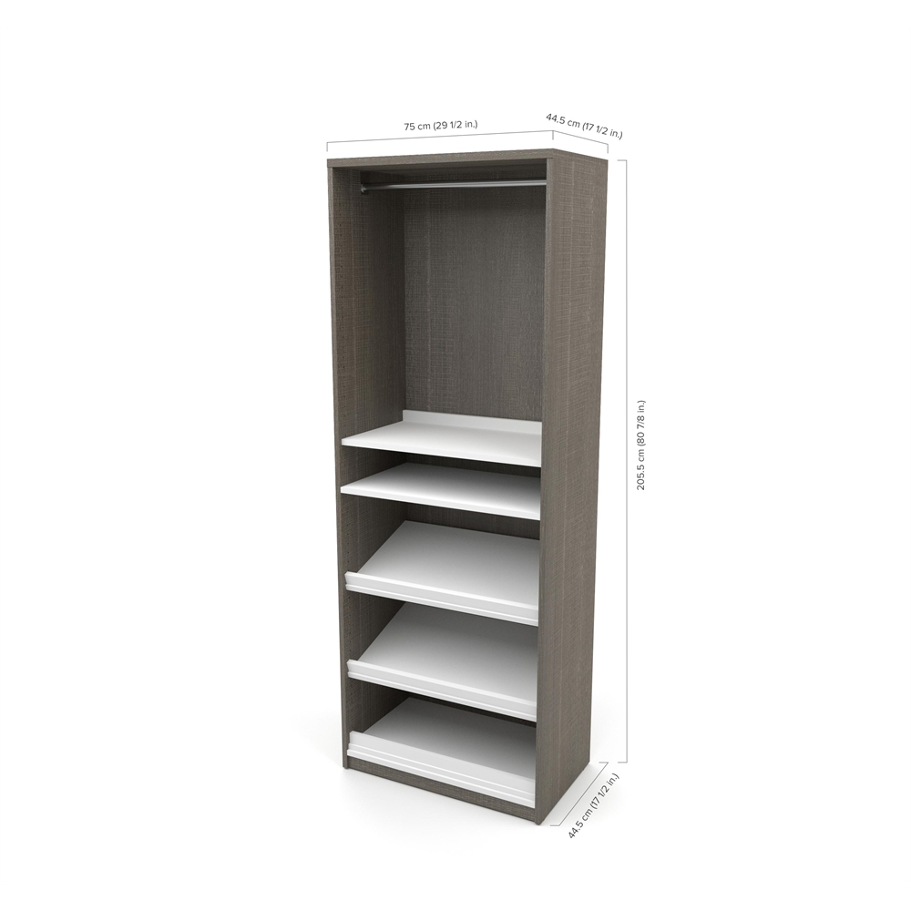 """Classic 118"""" Full Wall Bed kit in Bark Gray and White. Picture 5"""