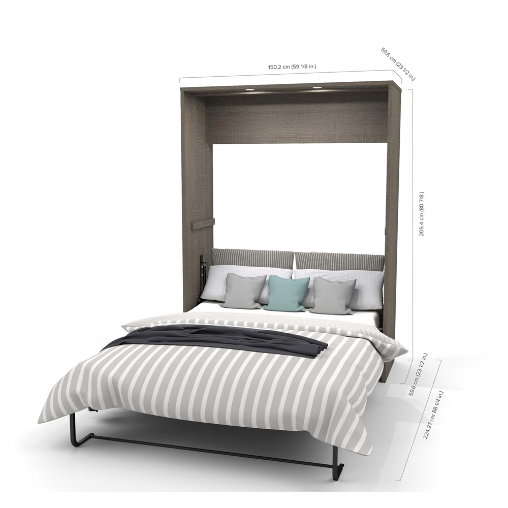 """Classic 118"""" Full Wall Bed kit in Bark Gray and White. Picture 2"""