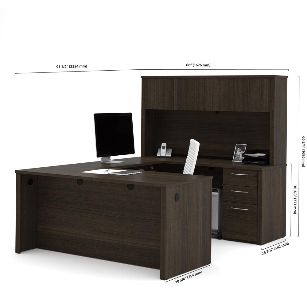 Embassy 66 Quot U Shaped Desk In Dark Chocolate