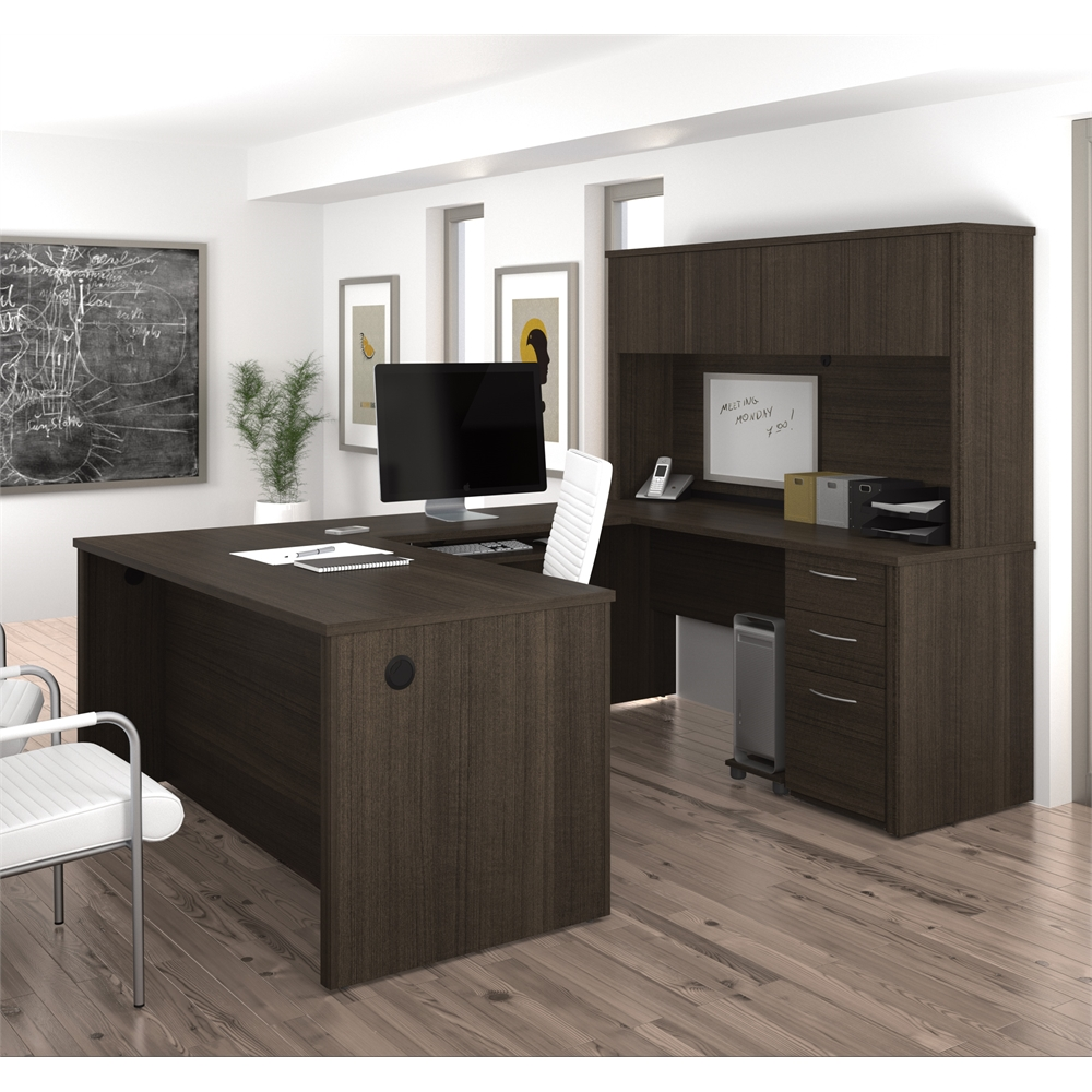 Embassy 66 Quot U Shaped Desk In Dark Chocolate
