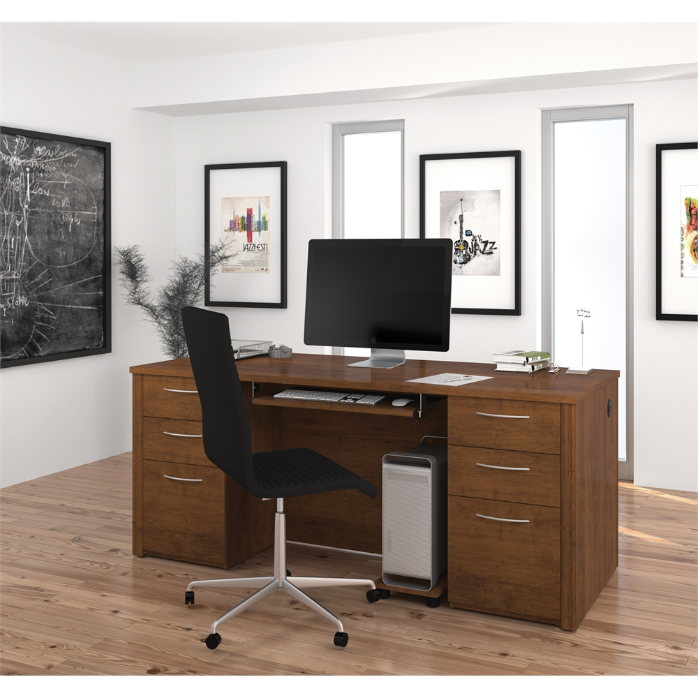 Embassy 71 Quot Executive Desk Kit In Tuscany Brown