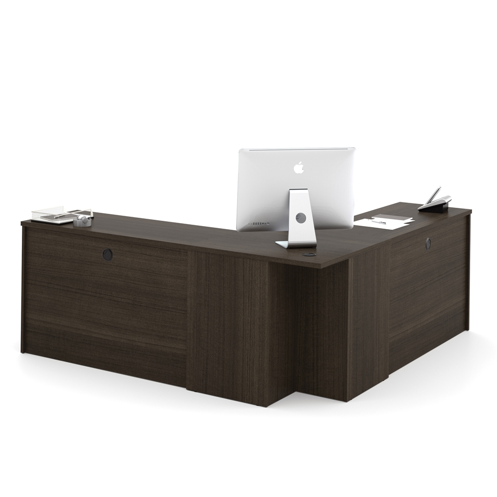 bestar embassy corner desk in dark chocolate bestar embassy corner desk