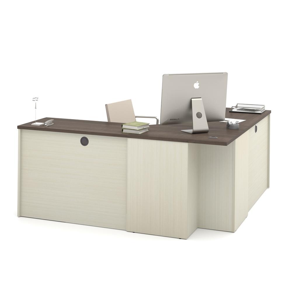 Prestige Corner Desk Including One Pedestal In White