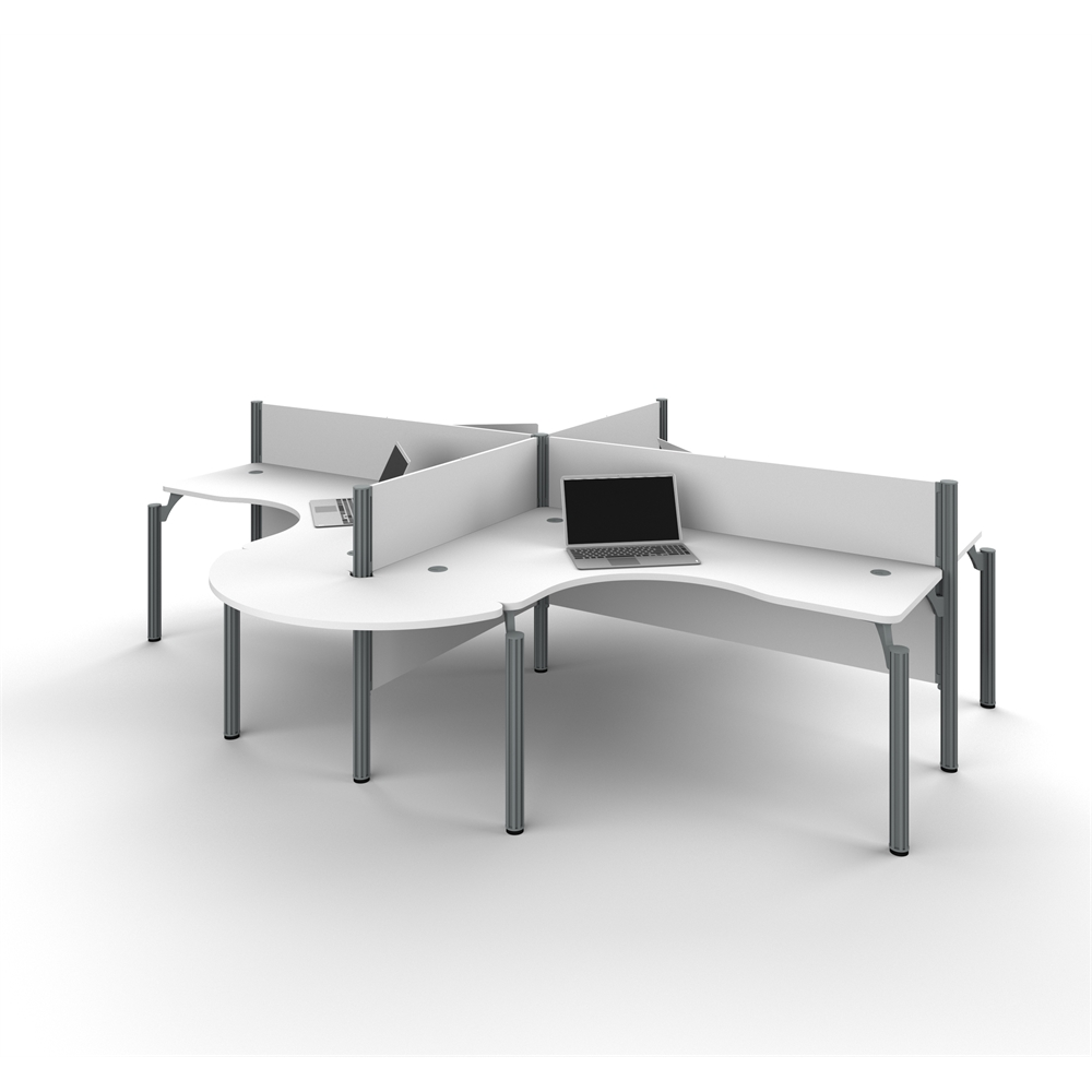 Probiz Four Ldesk Workstation With Rounded Corners In White. Cottage Writing Desk. Military Desk Jobs. White Computer Desk With Hutch. Espresso Pub Table. Portable Desk And Chair Combo. Child Writing Desk. Laptop Computer Desk Stand. Pub Table For Sale