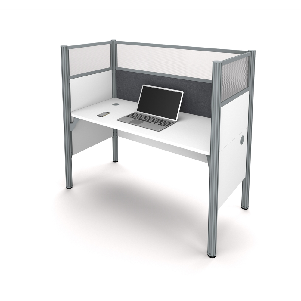Pro-Biz Simple workstation in White with Gray Tack Board. Picture 1