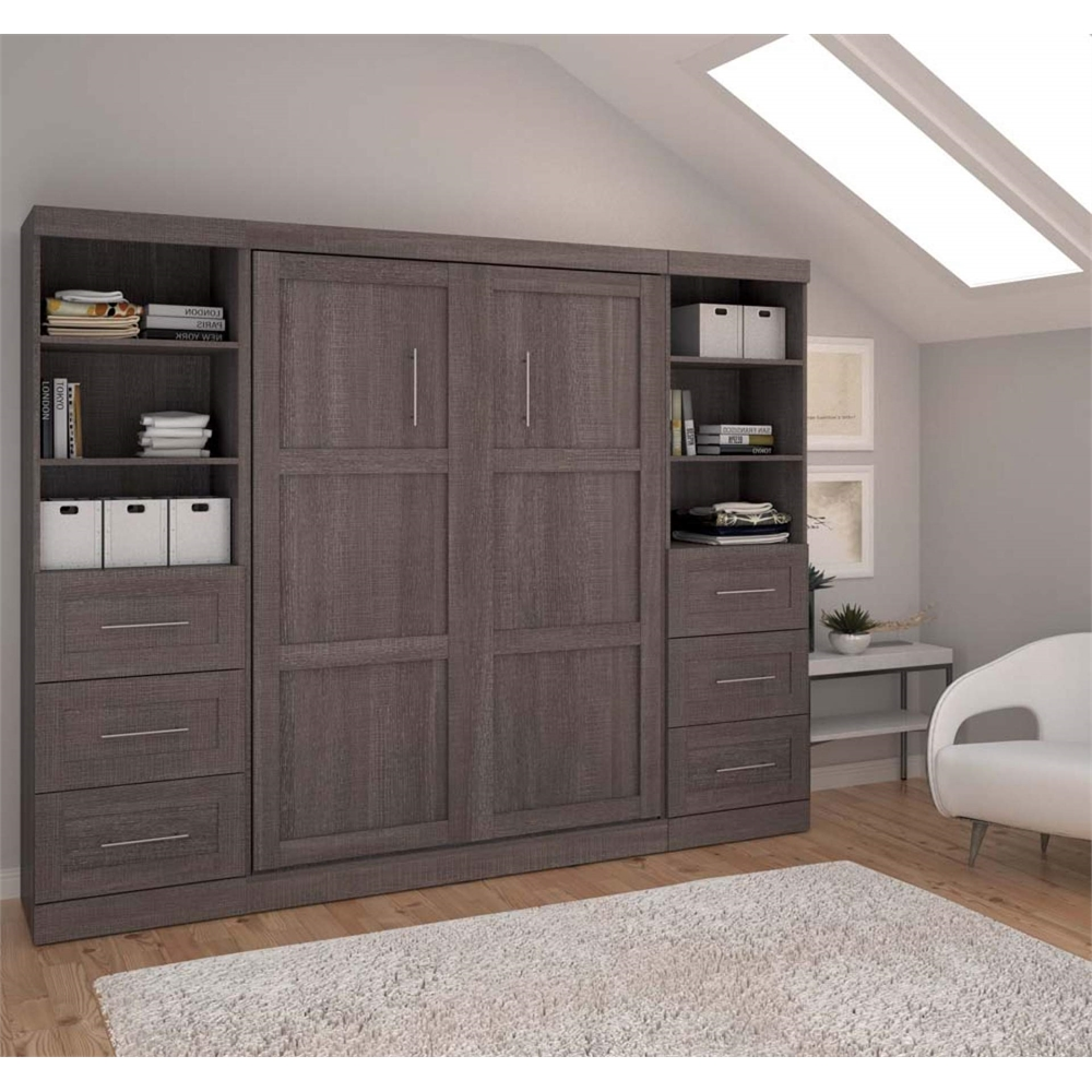 """Pur 109"""" Full Wall Bed Kit In Bark Gray"""