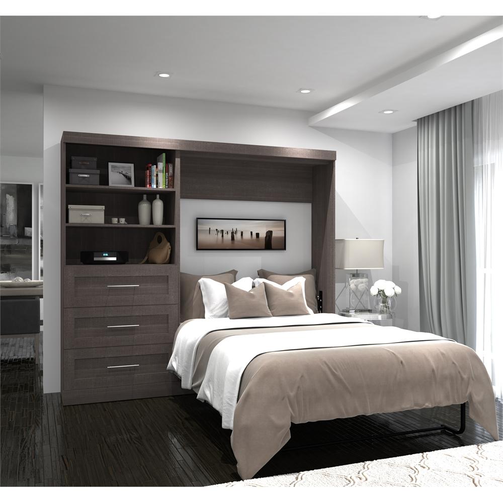 95 Full Wall Bed Kit In Bark Gray