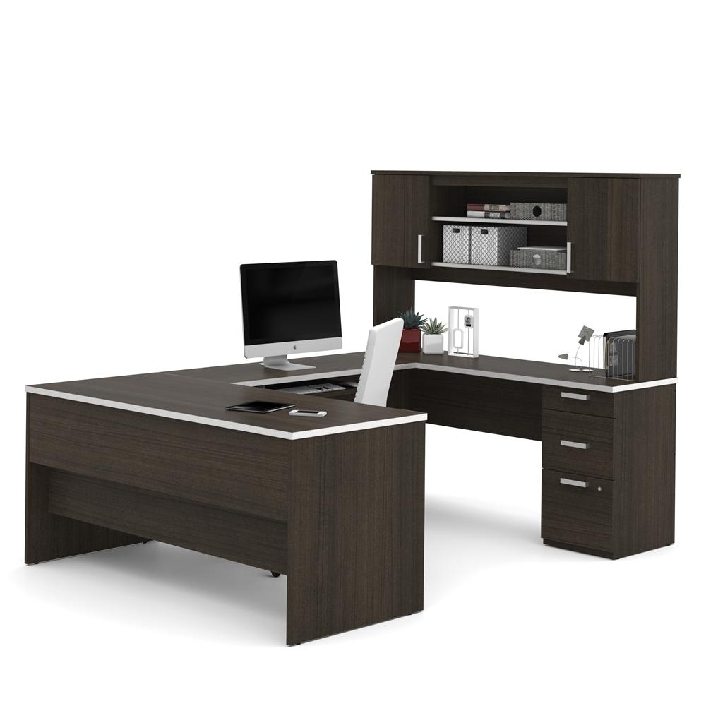 Ridgeley U Shaped Desk In Dark Chocolate