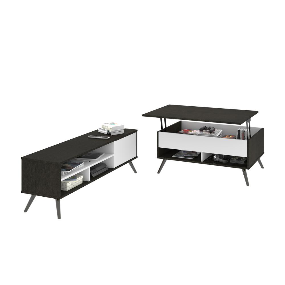 Small Space Krom 2 Piece Lift Top Storage Coffee Table And Tv