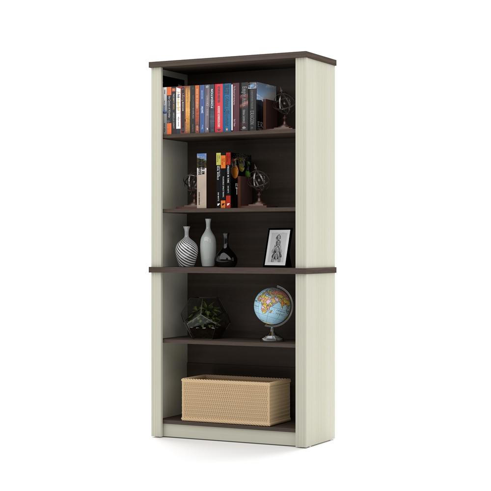 Prestige Modular Bookcase In White Chocolate Antigua