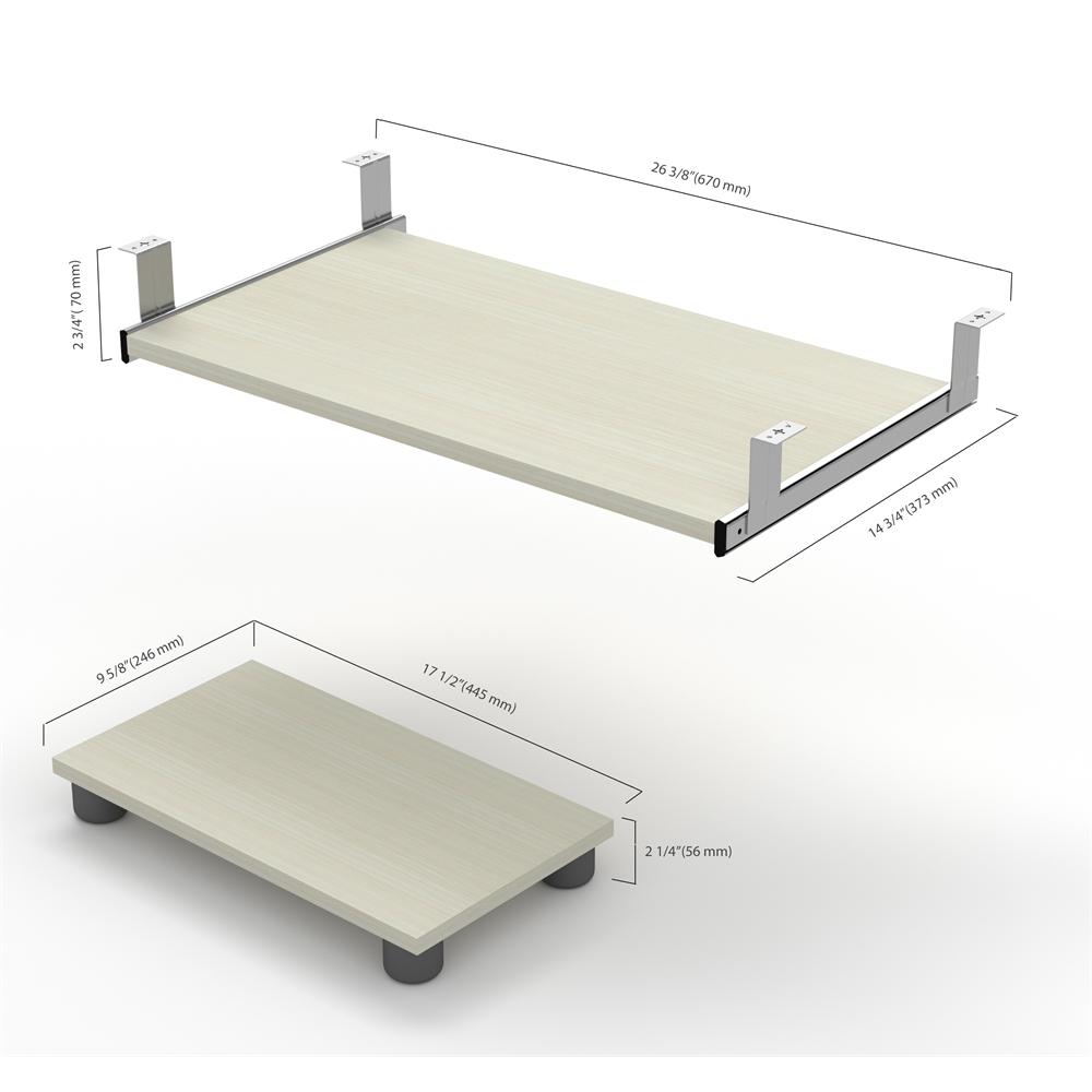 Prestige Keyboard Shelf And Cpu Platform In White Chocolate