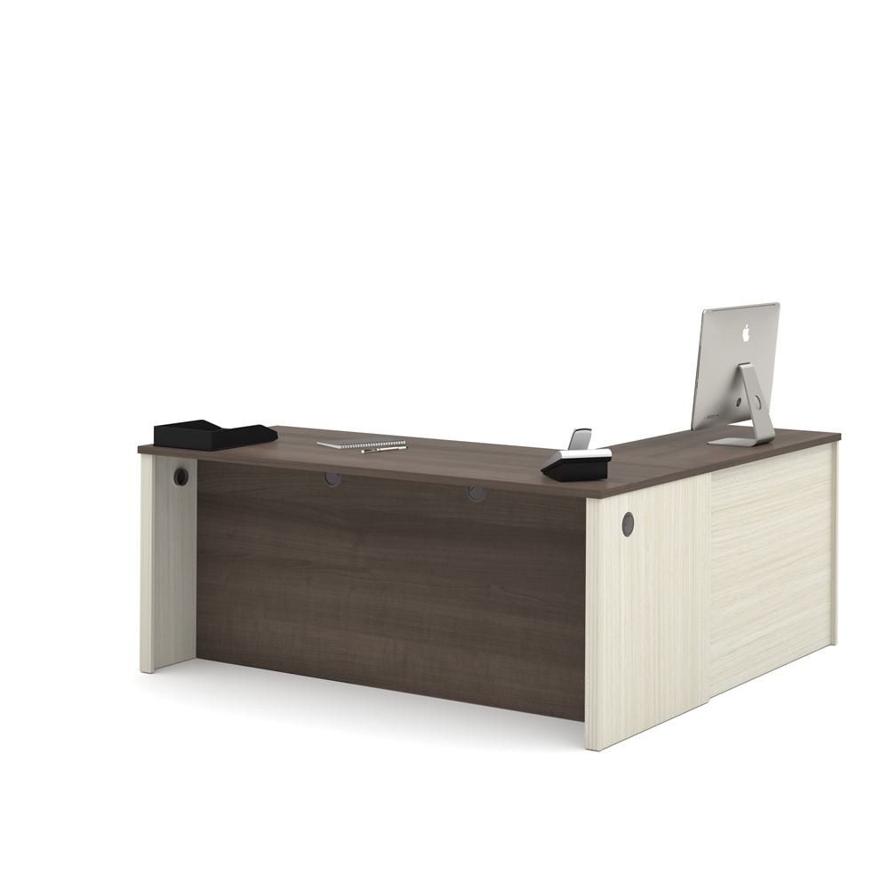 Prestige L Shaped Workstation Including One Pedestal In