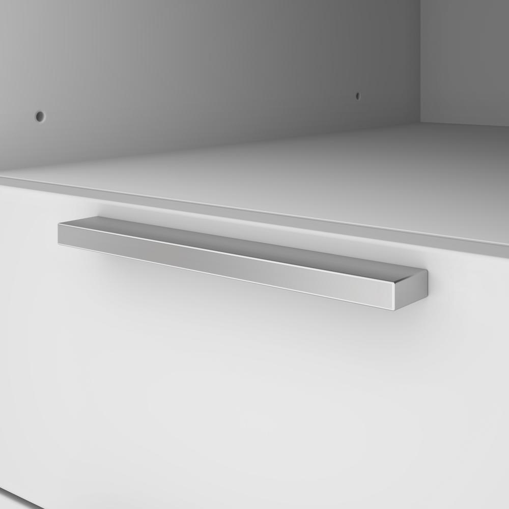 Bestar Gemma L-Shaped Desk - Walnut Grey & White. Picture 8