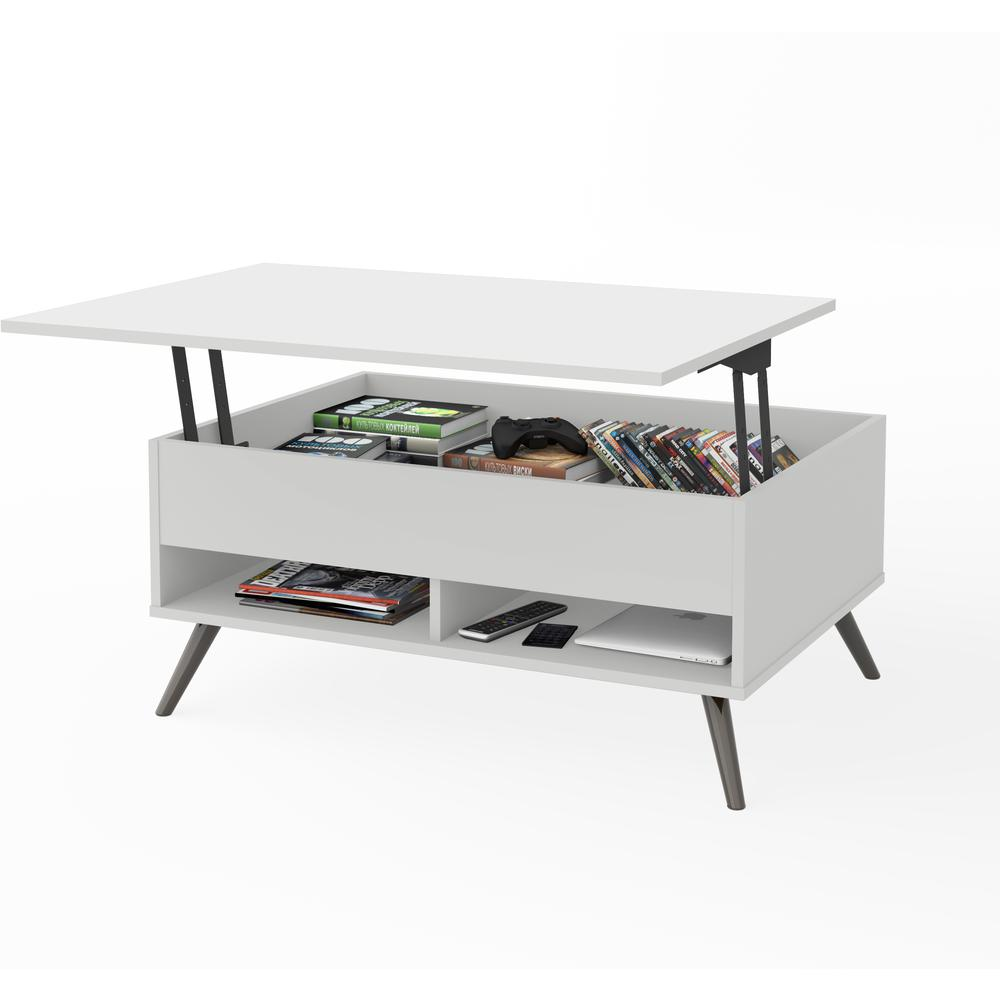 - Bestar Small Space Krom 37-inch Lift-Top Storage Coffee Table In