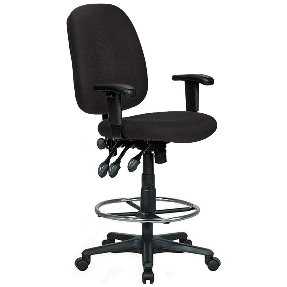 Extra Tall Ergonomic Drafting Chair Black